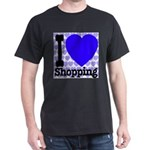 I Love Shopping Blue Dark T-Shirt