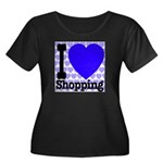 I Love Shopping Blue Women's Plus Size Scoop Neck