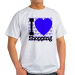 I Love Shopping Blue Light T-Shirt
