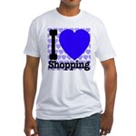 I Love Shopping Blue Fitted T-Shirt
