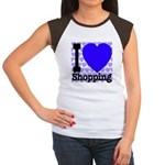 I Love Shopping Blue Women's Cap Sleeve T-Shirt