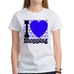 I Love Shopping Blue Women's T-Shirt