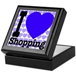 I Love Shopping Blue Keepsake Box