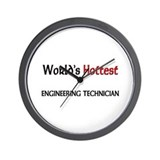 World's Hottest Engineering Technician Wall Clock
