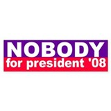 NOBODY Bumper Car Sticker