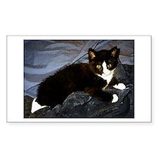 Tuxedo Kitten Rectangle Sticker 50 pk)
