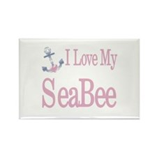 i love my seabee Rectangle Magnet (100 pack)