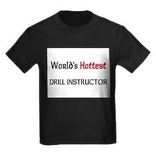 World's Hottest Drill Instructor Kids Dark T-Shirt