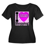 I Love Online Shopping Women's Plus Size Scoop Nec