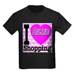 I Love Online Shopping Kids Dark T-Shirt