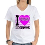 I Love Online Shopping Women's V-Neck T-Shirt
