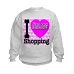 I Love Online Shopping Kids Sweatshirt