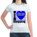 I Love Online Shopping Jr. Ringer T-Shirt
