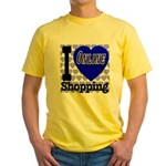 I Love Online Shopping Yellow T-Shirt
