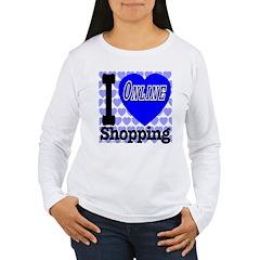 I Love Online Shopping Women's Long Sleeve T-Shirt