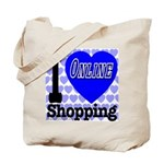 I Love Online Shopping Tote Bag