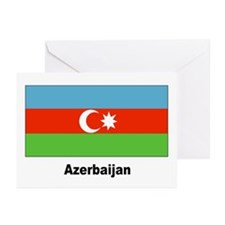 Azerbaijan Flag Greeting Cards (Pk of 20)