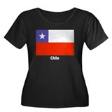 Chile Chilean Flag Women's Plus Size Scoop Neck Da