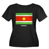Suriname Flag Women's Plus Size Scoop Neck Dark T-