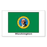 Washington State Flag Rectangle Sticker 10 pk)
