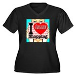 I Love Online Shopping Women's Plus Size V-Neck Da