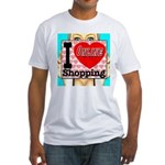 I Love Online Shopping Fitted T-Shirt