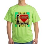 I Love Online Shopping Green T-Shirt