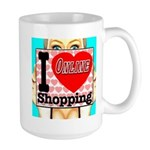I Love Online Shopping Large Mug