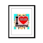 I Love Online Shopping Framed Panel Print
