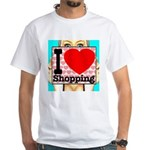 Express Your Passion For Shopping White T-Shirt