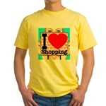 Express Your Passion For Shopping Yellow T-Shirt