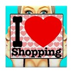 Express Your Passion For Shopping Tile Coaster