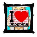 Express Your Passion For Shopping Throw Pillow