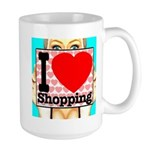 Express Your Passion For Shopping Large Mug