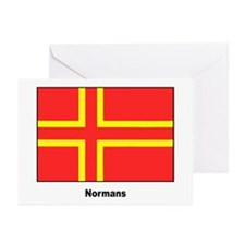 Norman Ancestry Flag Greeting Cards (Pk of 20)