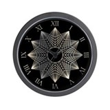 Silver Wire Novelty Wall Clock