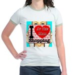 Promote Mall Shopping Jr. Ringer T-Shirt