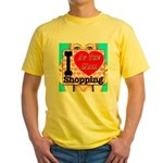 Promote Mall Shopping Yellow T-Shirt