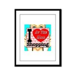 Promote Mall Shopping Framed Panel Print