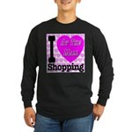 Promote Mall Shopping Long Sleeve Dark T-Shirt