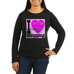 Promote Mall Shopping Women's Long Sleeve Dark T-S
