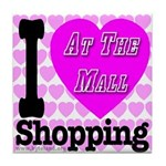 Promote Mall Shopping Tile Coaster