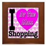 Promote Mall Shopping Framed Tile