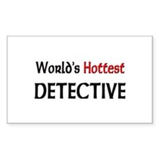 World's Hottest Detective Rectangle Decal