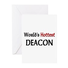 World's Hottest Deacon Greeting Cards (Pk of 10)