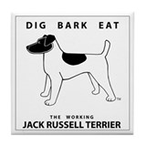 DIG BARK EAT Jack Russell Terrier Tile Coaster