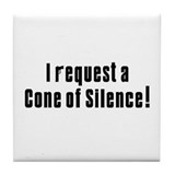 Cone of Silence Get Smart Tile Coaster