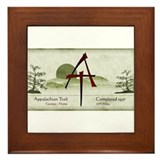Earthy Asian Appalachian Trail Framed Tile