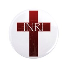 "INRI Cross 3.5"" Button"