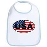 USA Flag in Oval Bib